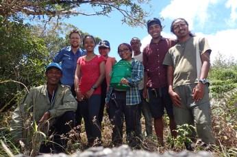 The team at the peak, from left to right: Angeluc Razafimanantsoa, yours truly, Onja Randriamalala, Safidy Malala Rasolonjavato, Andolalao Rakotoarison, Justin, Jary H. Razafindraibe, Ricky T. Rakotonindrina