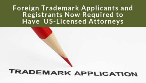 trademark representation required for foreign trademark applicants
