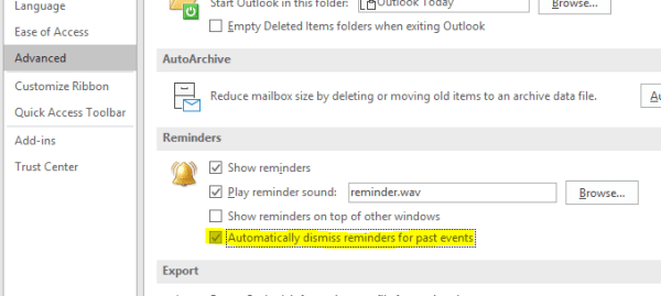 Office 365: Disable Event Reminders for Past Events in ...