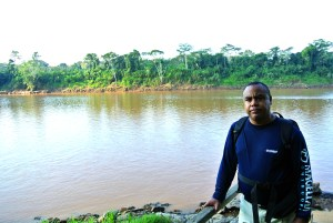In the Peruvian Amazon. This is an oxbow lake off of the Tambopata river.