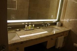 Dual Vanity and toiletries