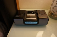 iHome clock radio with iPod dock and aux input