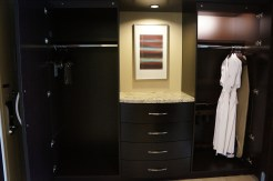 Armoire with robes