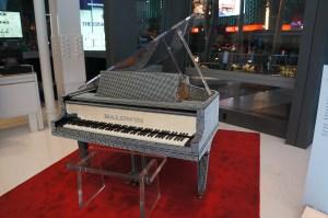 Liberace's Rhinestone encrusted baby grand piano
