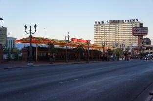 Rail Cars outside Main Street Station