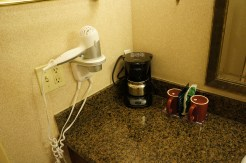 Coffee pot and hair dryer!