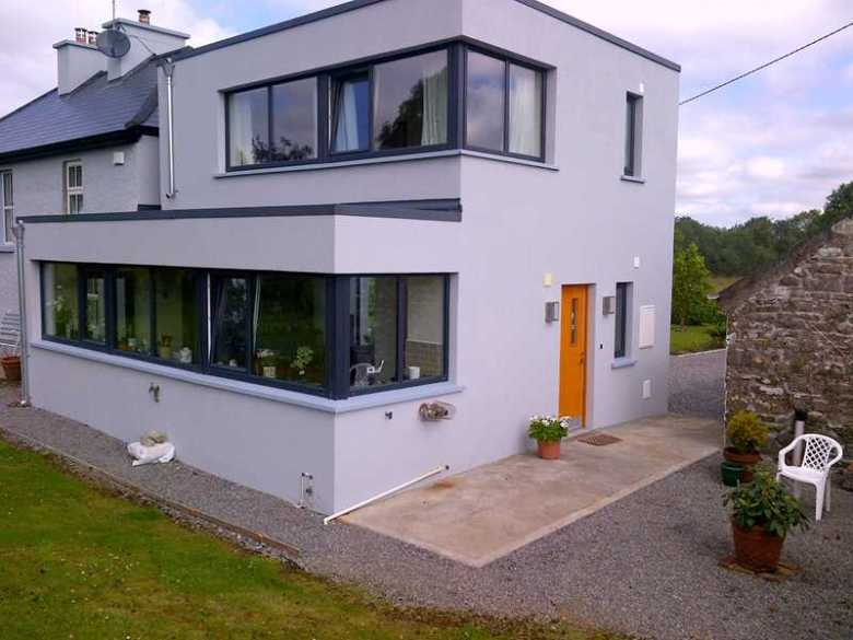 A very contemporary extension to a two storey County Roscommon farmhouse
