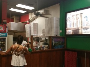 The counter at Joey Brooklyn's Pizza in downtown St. Petersburg