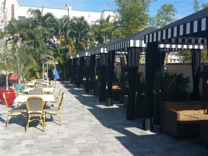 The cabanas at the Tap Room at the Hollander are free if you spend $100 in food and drink