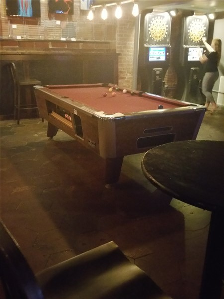 The pool table at the Blue Goose in downtown St. Pete, FL