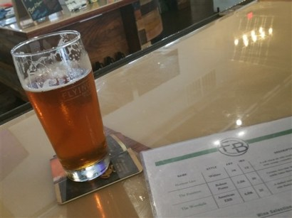 A pint of craft beer at Flying Boat Brewing Company in St. Petersburg, Florida