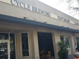 Cycle Brewing Tap Room on Central Avenue in St. Pete, Florida