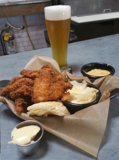 The Fried Chicken Dinner at Urban Comfort Restaurant and Brewery in St. Petersburg, Florida