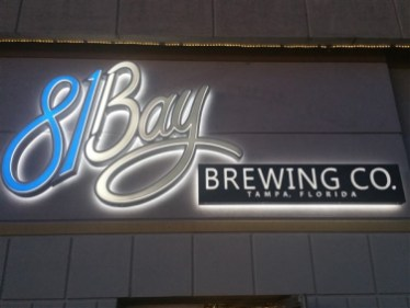 The sign at 81 Bay Brewing Company in Tampa, FL