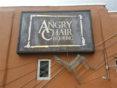 Sign at Angry Chair Brewing Company in Tampa.