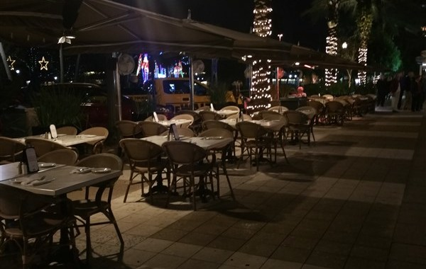 Sidewalk patio on Beach Drive at Cassis in downtown St. Petersburg, FL
