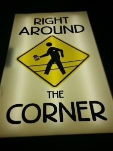 The logo for Right Around the Corner Arcade Brewery and Craft Beer Bar in St. Pete