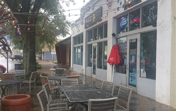 The sidewalk patio at The Burg Bar & Grille in St. Pete