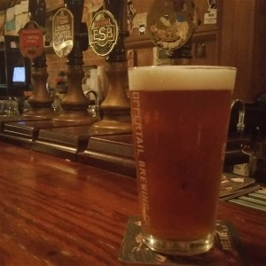 A pint of Fuller's London Pride Real Ale at The Dirty Shame in Centro Ybor in Tampa, Florida