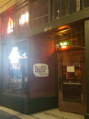 The front entrance at The Dirty Shame in Centro Ybor in Tampa, Florida