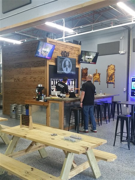 Bar area at Dissent Craft Brewing in St. Petersburg, Florida