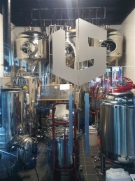 3 barrel brewing system at Late Start Brewing in Downtown Tampa