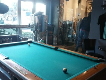 A pool table at the Pour House in downtown Tampa