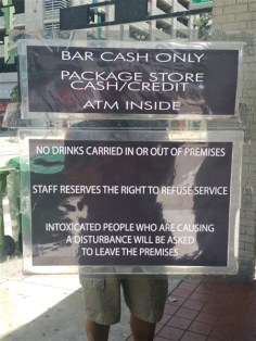 The Hub Bar in downtown Tampa is cash only