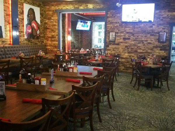 The dining area at Cask and Lion in St. Petersburg, FL