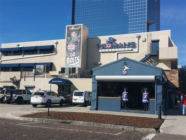 Yeoman's Cask and Lion near Amalie Arena in Downtown Tampa