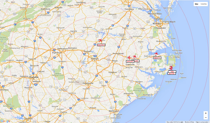 A RTLSDR receiver and dump1090 can track planes hundreds of miles away.