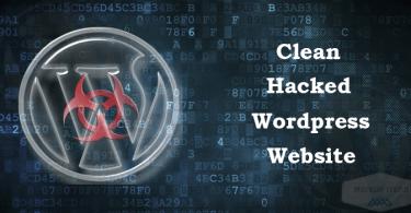 clean hacked wordpress website