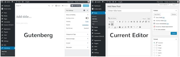 gutenberg vs default editor