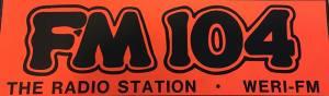 bumpersticker FM 104 WERI