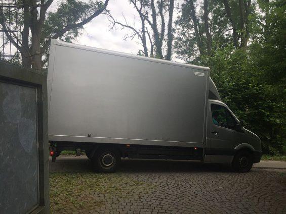 Das war der Umzugswagen, der unsere 40 - 42 m³ Umzugsgut transportieren sollte...