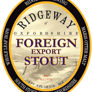 RIDGEWAY Foreign Export Stout label