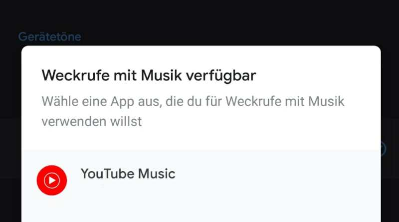 Google Uhr YouTube Music