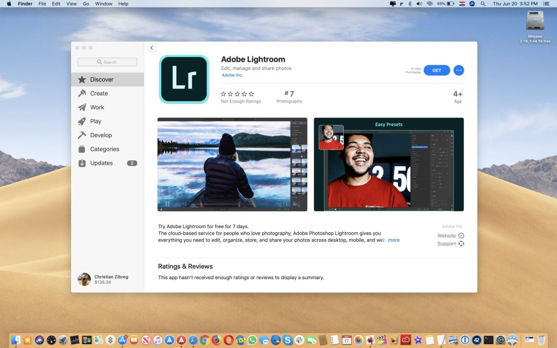 Adobe Lightroom Mac App Store