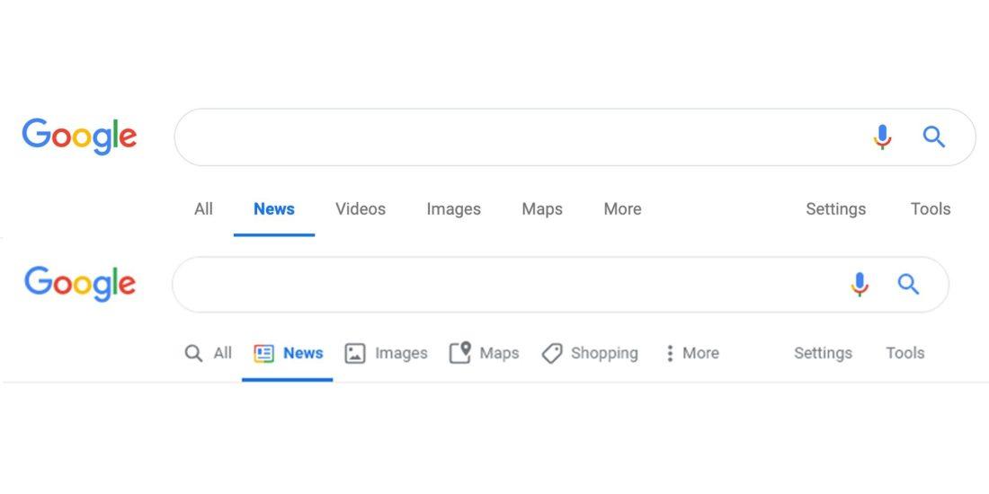 Google Websuche Material Design