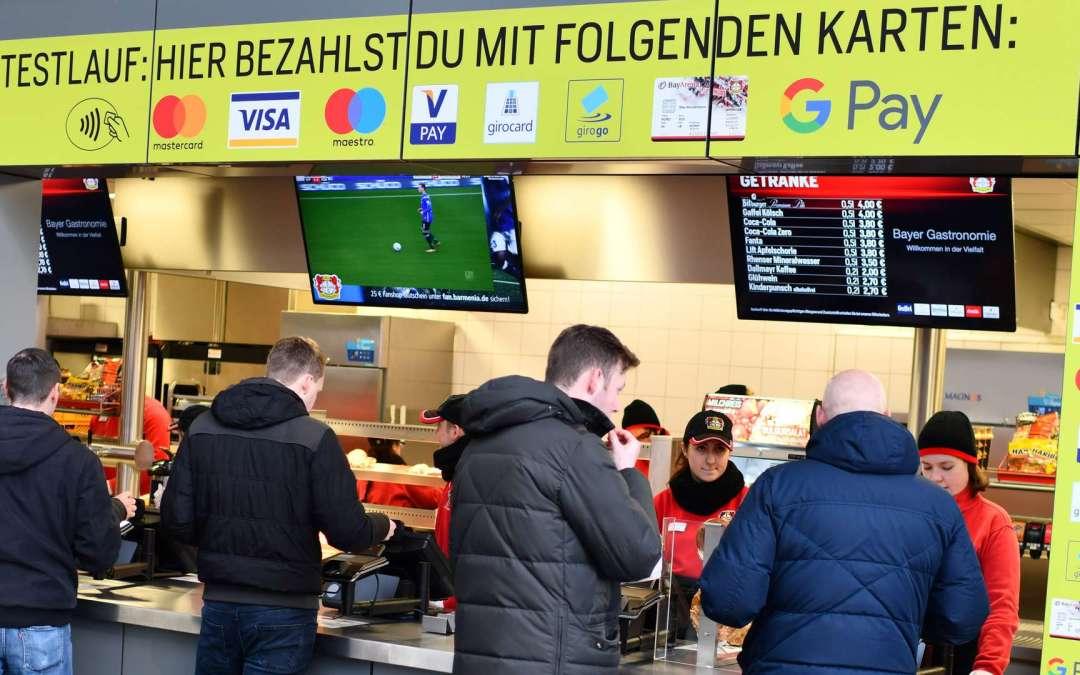 Google Pay & Apple Pay ab der kommenden Saison bei Bayer 04 Leverkusen möglich