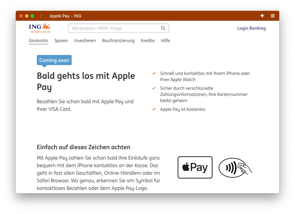 ING Apple Pay