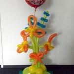 Folienballon Happy-Birthday-Orchidee