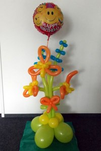 Folienballon Happy-Birthday-Orchidee