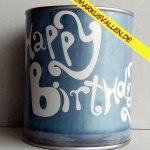Ballongewicht Spardose Happy-birthday