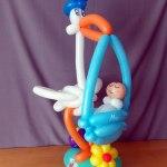 Ballon Babystorch / Balloon Baby-Stork