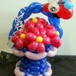 Blumenkorb mit Margariten und Marienkäfer aus Ballons