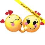 Folienballon Kissing Smileys