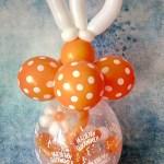 Geschenkballon zum 10. Firmenjubiläum in den Farben der Corporate-Identity des Unternehmens