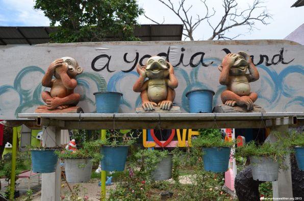 Ayutthaya Nichts sagen, nichts hören, nichts sehen