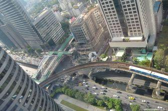 Bangkok W Hotel Straßen-Aussicht vom Zimmer